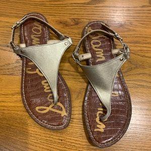 Sam Edelman 'GRETA' Metallic Sandal Size 8.5